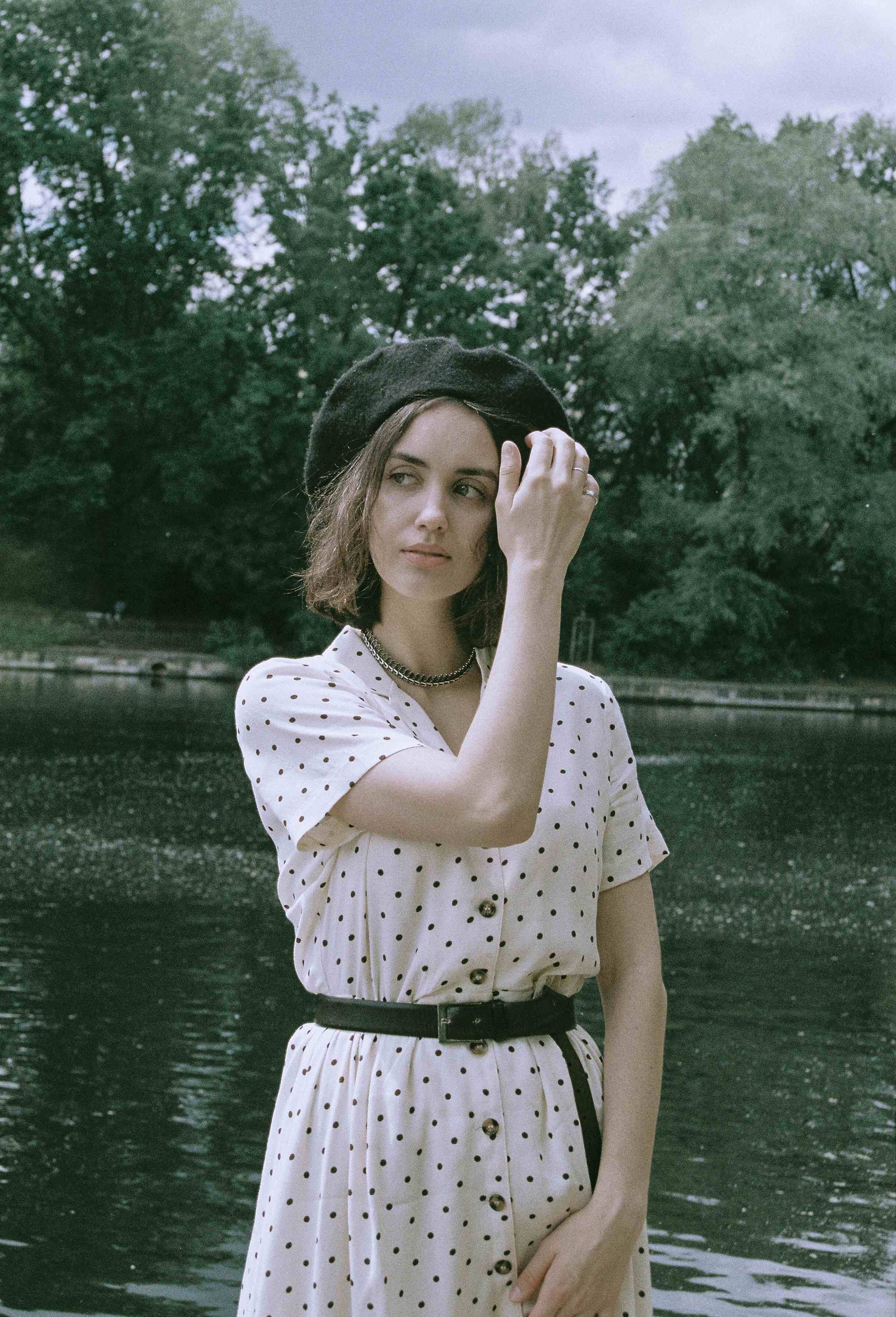 A walk by the river on a warm spring day. Slowly we return to normal and again we'll embrace the small pleasures of life. Photography by Nina Menzel. Muse: Alexandra Tischenko.